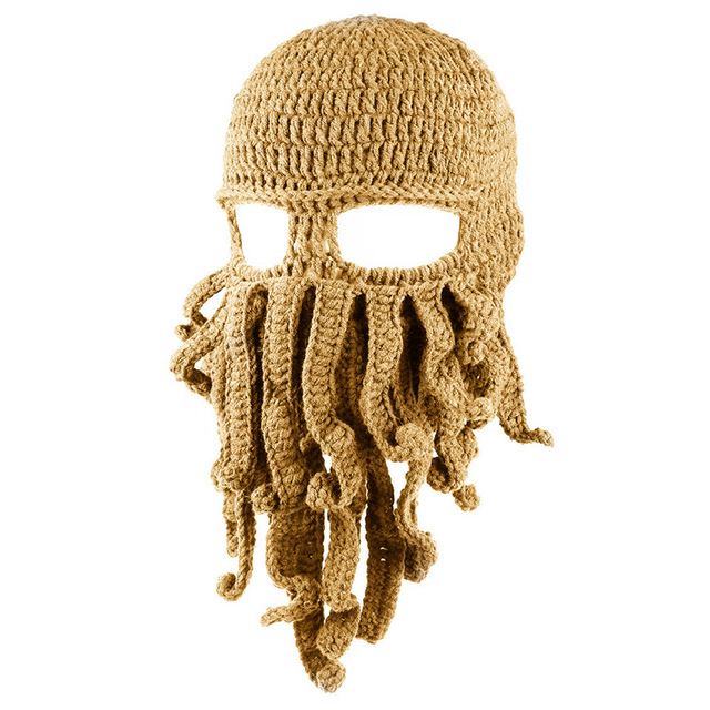 c6be05841 Funny Tentacle Octopus Knit Beanie Cap Wind Mask